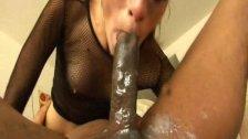 SloPPy Amber Rayne WORSHIP BIG BLACK COCK
