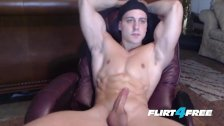 CJ Reed Unloads Jizz All Over His Muscular Toned Body