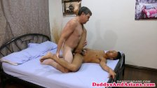Daddy cumspraying pinoy twink after anal