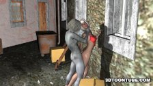 Hot 3D Babe Fucked by a Zombie
