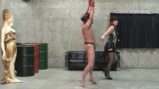 Japanese femdom Mayumi, Facesitting and hit in whip to slavely.