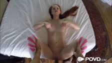 POVD - Petite redhead with fat pussy Dolly Little fucked in sex tape