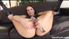 Dana gets her ass stuffed with huge black cock