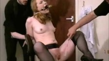Tied Madison Youngs domination and painful submission of american fetish