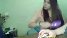 SpicyGirlcam -  Very Sexy Russian Teen Hairjob Long Hair Hair Bru