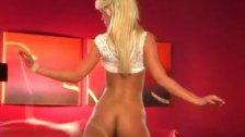 Tanya James stripping 2