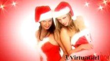 Nikky and Mina xmas girls