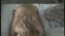 Naked blonde seducing