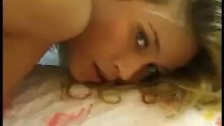 Czech blonde undressing in bedroom