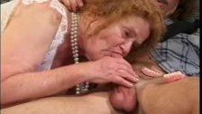 Granny sucks and gets fucked