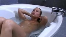 Barbara bathes her pussy