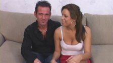 His wife gets jizzed