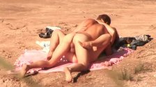 Young girl banged on the beach