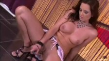 Sandra Shine playing with glass dildo
