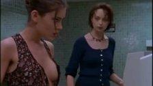 Alyssa Milano shows her hot tits