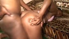 Big booty ebony snatch pounded right