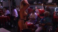 Brunette Chloe slut surprise fuck in the stripbar