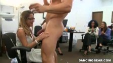 Blonde office geek sucks cock