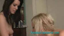 Horny czech lesbians in lapdance and blow job
