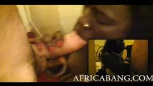 Busty African chick banged and facialed