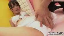 Cute Japanese teen girl gets groped