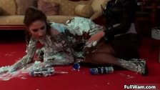 Two hot Euro babes love shaving cream