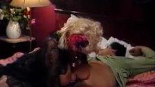 Blonde slut tit fucks lucky cock