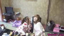 Crazy japanese chicks and hot orgy 2