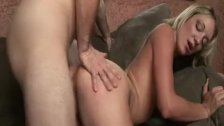 Teen gives great blowjob and fucked
