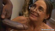 Cheyenne Hunter sucking black dick