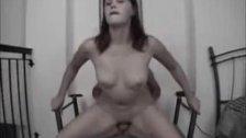 Cute amateur GF sucks and fucks on chair
