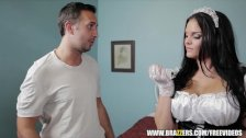 Incredibly hot French maid gets hard dick