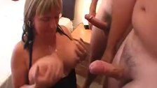 Large boobed housewives drain cocks