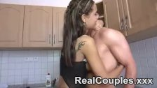 Pretty real couple give oral to each other