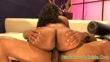 Big ass ebony gets nailed