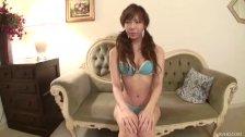 Cute Serina matching bra and vibrator