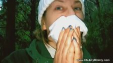 Italian housewife outdoor blowjob