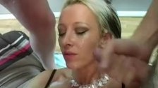 British blonde milf Tracy Venus gangbanged