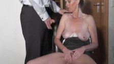 Naughty amateur Milf sucks and fucks with cum