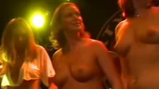 Big breasts babe at the party getting naughty