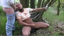 Bound Guy gets punish