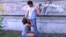 a young girl is deeply fucked in the mouth
