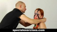 Sexy redhead babe gets lesson of submission