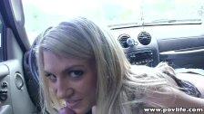Petite blonde Amanda Tate doggy style POV