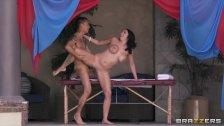 Missy Martinez fucks her masseur - brazzers