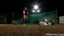 Baseball team squirting