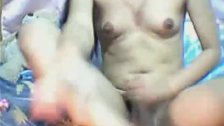 Sexy Asian Tranny Jerking Off
