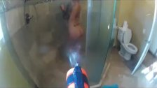 Water gun attack on Christy Mack as she takes