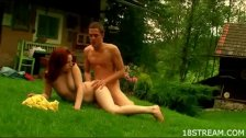 Wild and raunchy garden sex