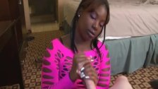 Teen Ebony Enjoys White Dicks